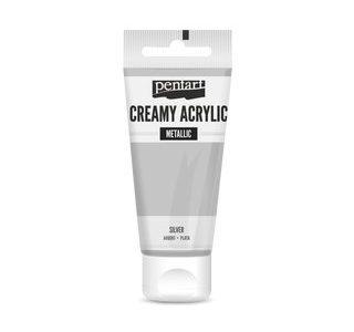 pentart-creamy-metallic-60-ml-silber