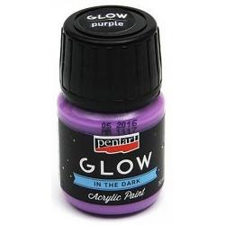 glow-in-the-dark-acrylic-paint-pentart-lila-30-ml